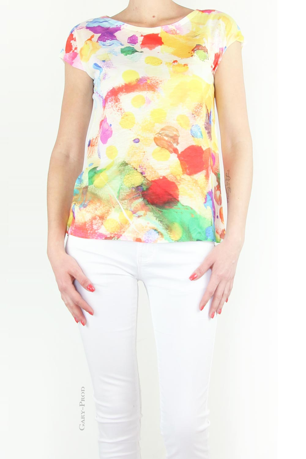 Tee shirt multicolore 'MODA'