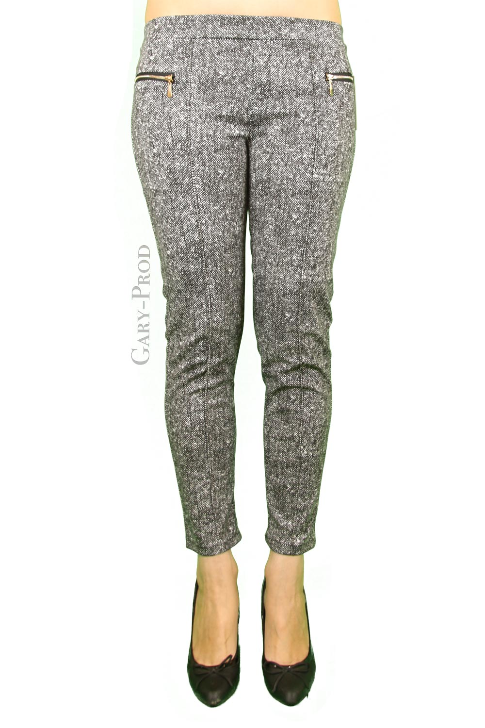 Pantalon gris chiné moda ' MADE IN ITALY'