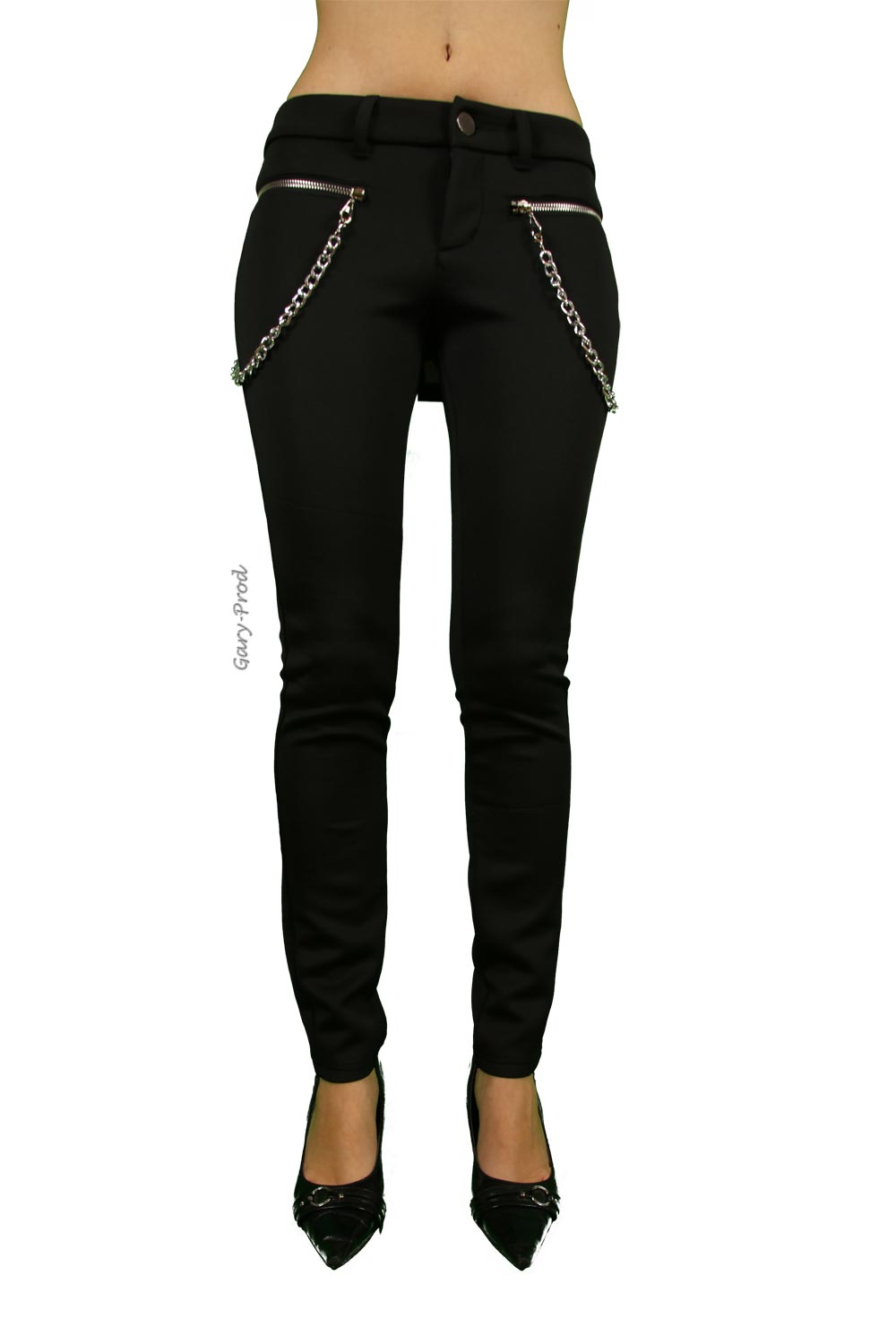 Pantalon noir 'TWIN TWO'
